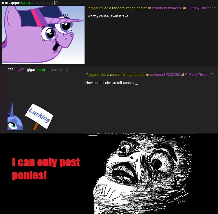 Forever a brony. Forever a brony! ... Not that I'm complaining .