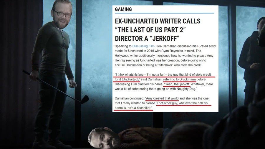FROM THE SOURCE. .. Why are they letting him ruin their company with his social justice agenda? Naughty dog made amazing games