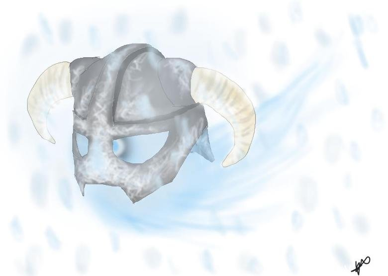 Frosty. A wisp takes a frosty helmet for a ride. I drew this I was bored 3: don't hate me D:.