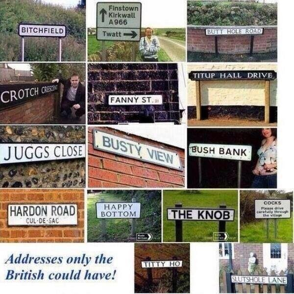 Funny Signs. . Addresses unity the British amid have!