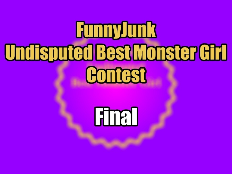 """FunnyJunk Undisputed Best Monster Girl Contest: Final. Semifinals: """"Anyone who votes for Albedo is a thot enabler"""" """"I approve of the selection to"""