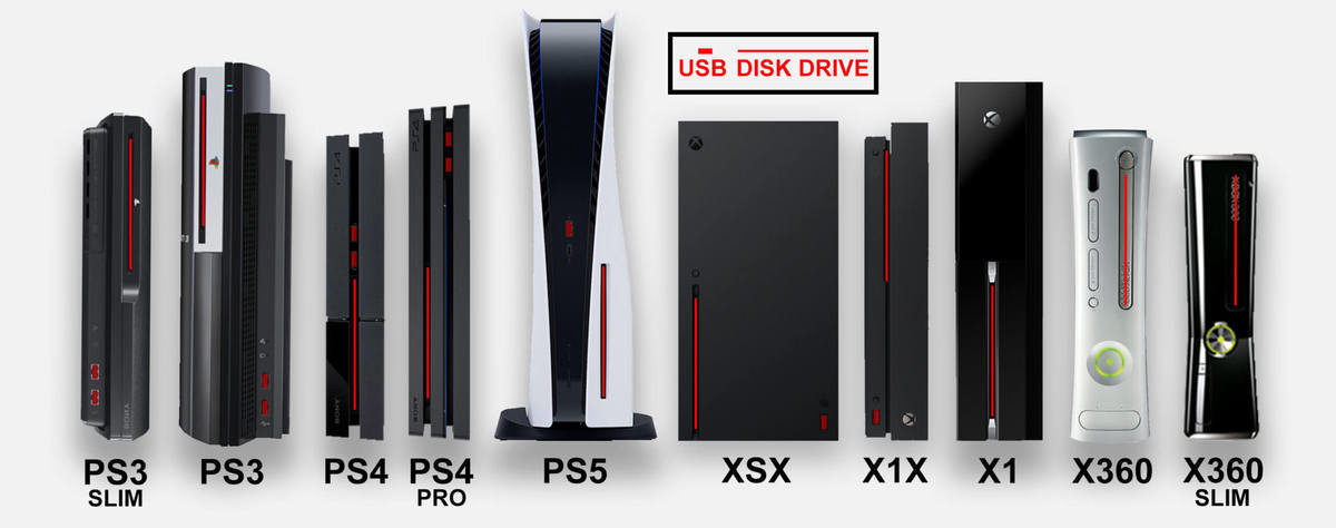 Game Console Size Comparison. If you have an XBox One or PS4, go up to it and visualize how much bigger the new XBox Series X and PS5 are... Damn that PS5 is big, wonder what the Pro would be like.