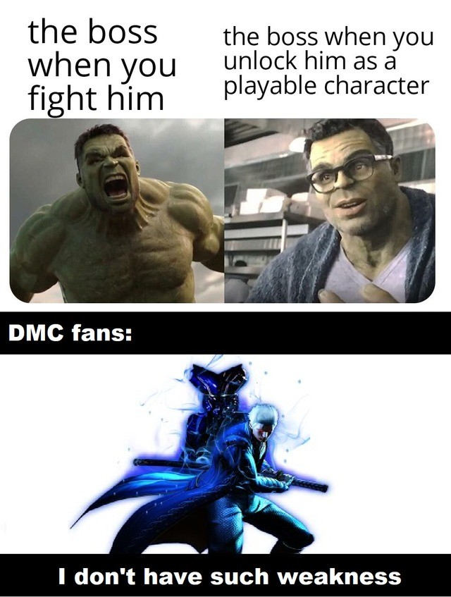 games need more vergil. he was a god in dmc4 and god forbid your opponent has him in his party in mvc3.. And that's why DMC fans always want him to be playable when a new DMC drops