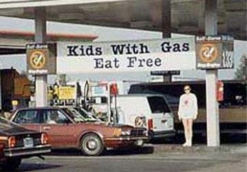 Gas stations. .