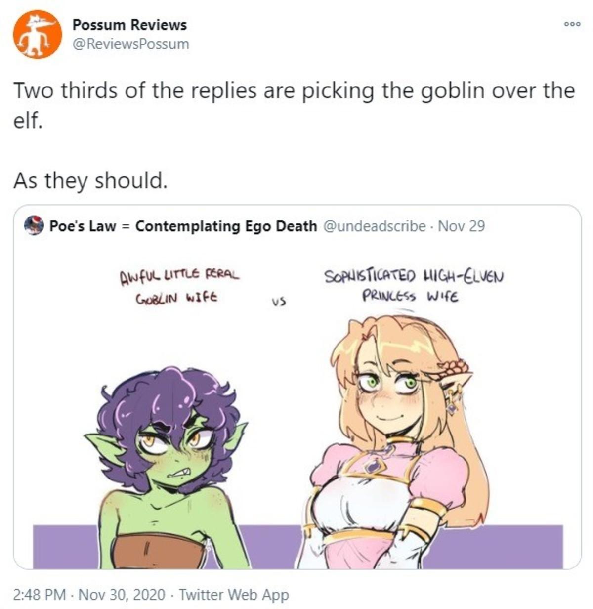 GAWBLIN. .. i choose elf tired of goblins