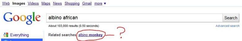 "Genuine. <a href=""rfai="" target=blank>www.google.co.uk/images?hl=en&source=imghp&biw=1280&bih=685&q=albino+afric"