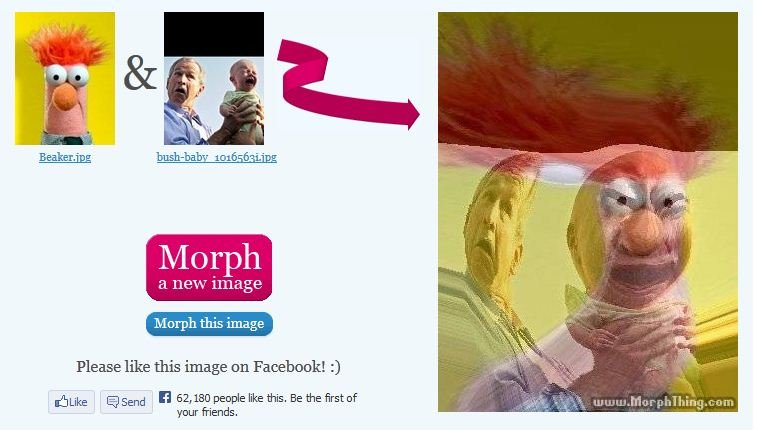 """George Bush Evil Baby morph. . MIN! h"""", this image Please like this image an . 3 shrike 15 Send Til 52, 180 people like this, Be the first of Tour friends,"""