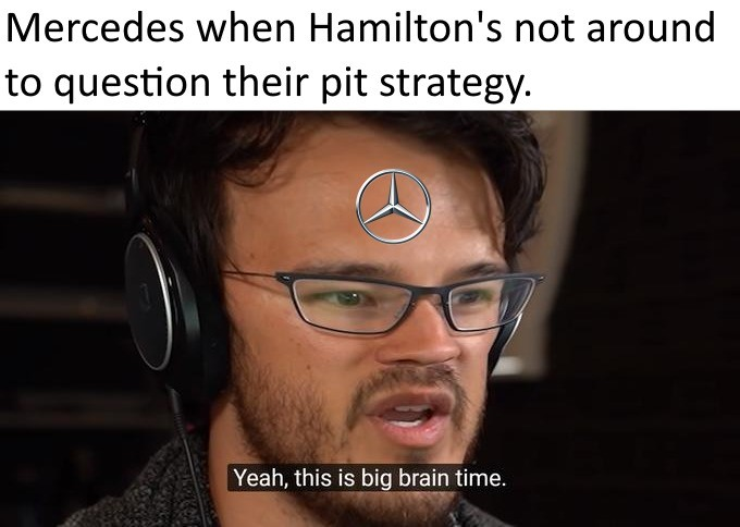 Get in there, Georg-...nevermind.. join list: Motorsports (190 subs)Mention History.. The one race people actually want to see mercedes on the podium and they barely scrape by on points. The fact that their pit crew doesn't hold fastest times on