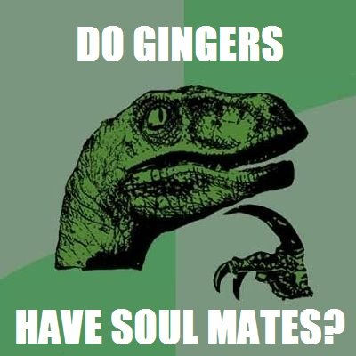 """Gingers.. Just thought of this. Decided to post it on my favorite website ever!. II""""! SIN"""" HATES?. Yes, gingers mate with other gingers because they steal everyone else's souls."""