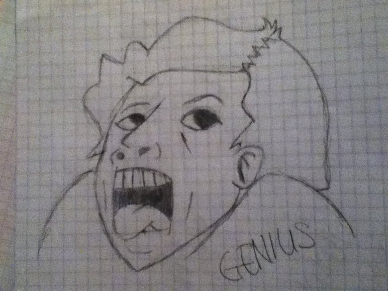 Gneius. drew this one day...yup.. whenever i do something stupid, i wish i could do this face, cuse i always think of it ps: nice drawing man ;D