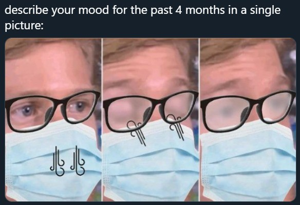 god ing dammit. .. Look dudes... one more time.. For people with glasses, rest your glasses atop your mask which will make your glasses droop alittle lower than usual but it will
