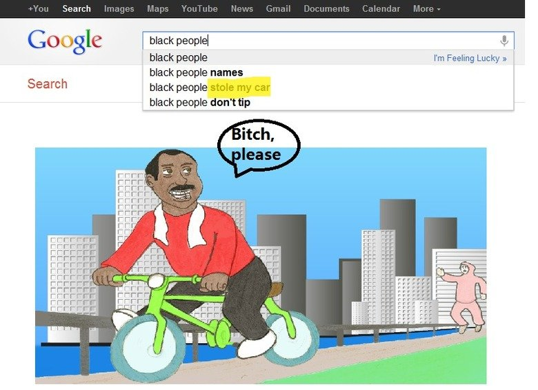 Good luck finding your answer on google. black people.