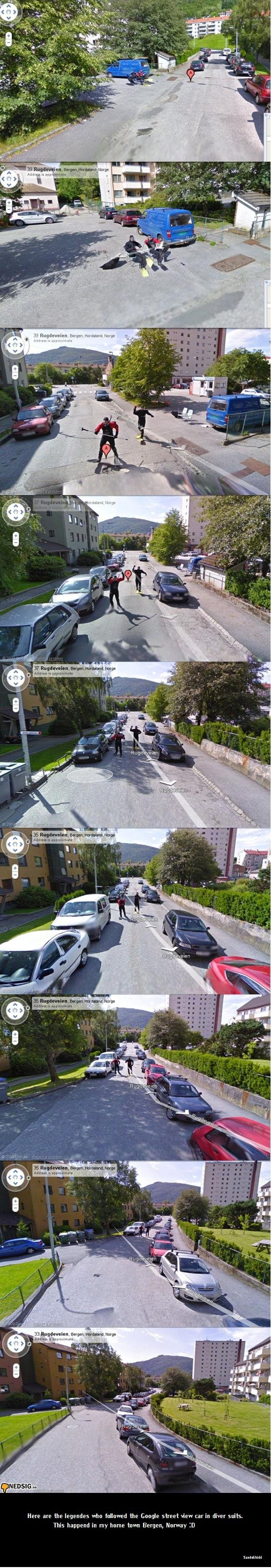 """Google street view win!. Got to love them . mm p. apple: -aerun: III"""" Lorre y. It .5 Here are the who followed the Beagle street view car in diver siris. This h"""
