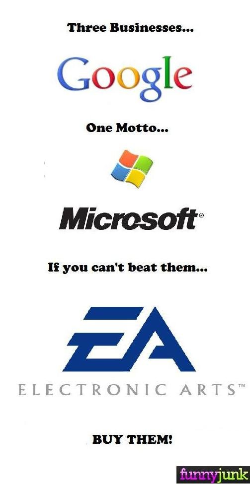 Google, EA, and Microsoft. I got bored, started thinking, and that thought hit me. Hope you like it..
