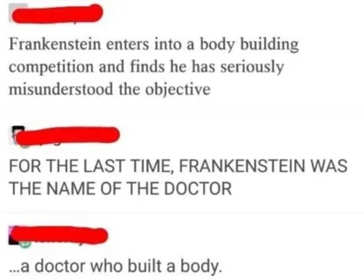 "gratis wide Fish. .. Frankenstein was ""a"" monster not 'the' monster"