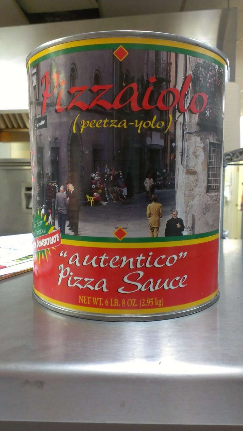 """Great.... ...Now the pizza sauce is yolo-ing... """"Autentico"""" The air quotes are disconcerting."""