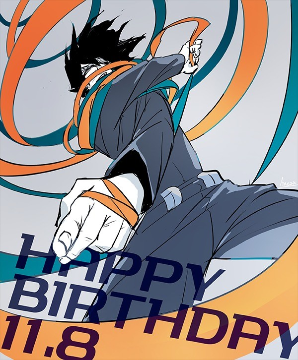 Happy Birthday Aizawa-Sensei. .. The best gift for him is 24 hours of sleep.