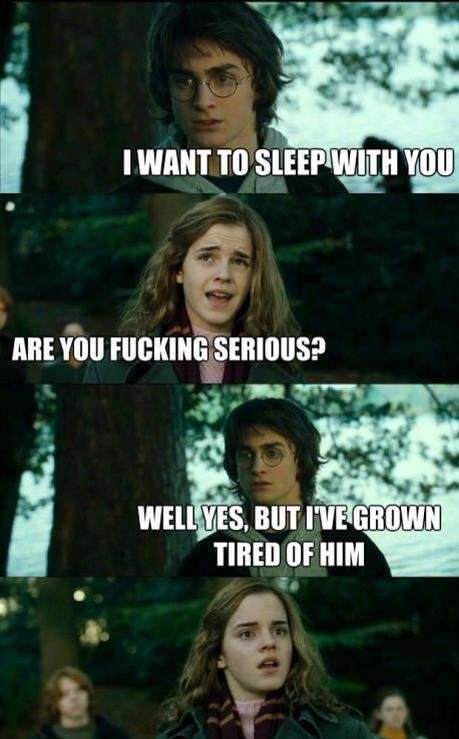 """Harry Plopper. . I WANT TO SEEP !, """"Ill uni You HIM"""