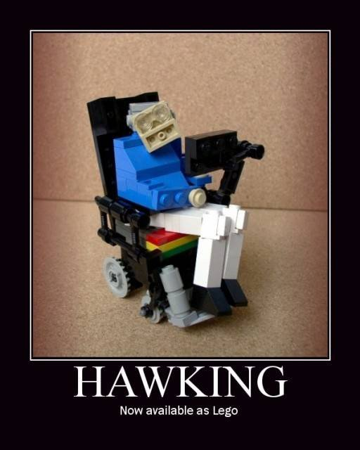 Hawking. . Now available m Lego. epic