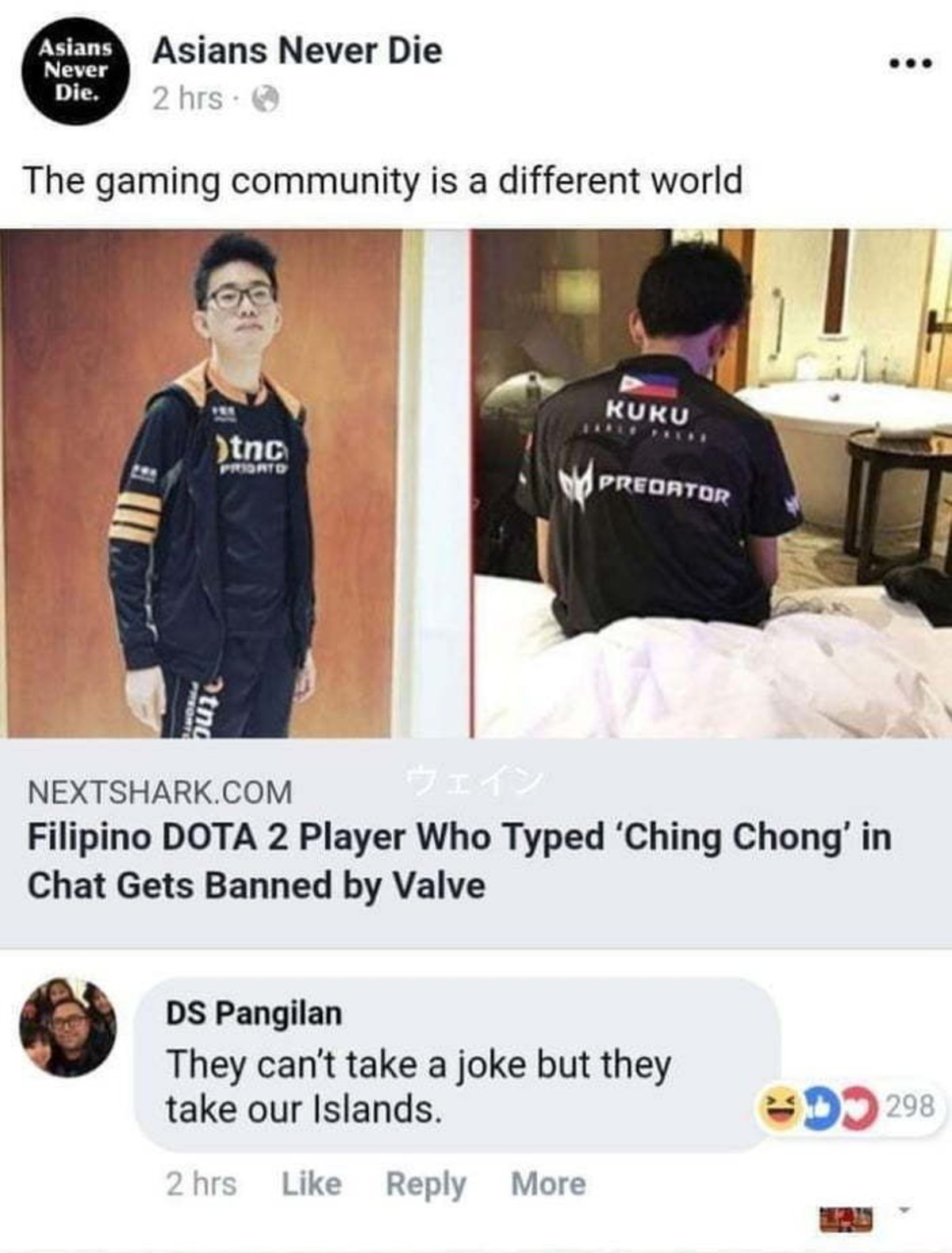 heart scrolled wanton Elk. .. Valve when they see someone think Freedom of speech is a god given right Ching Chong your opinion is wrong