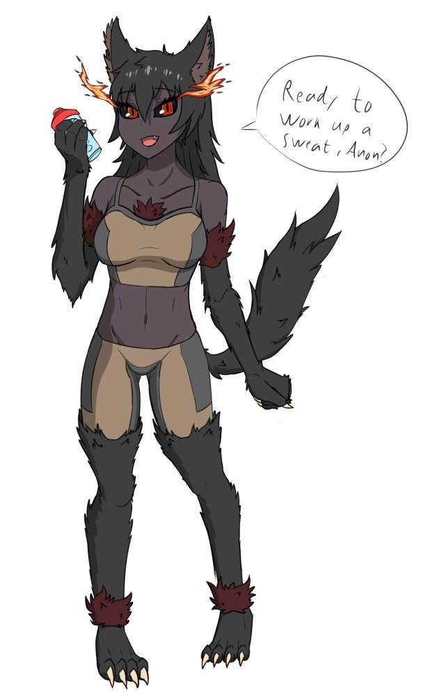 Hellhound workout. Now, what does she have planned?.. Don't let your guard down