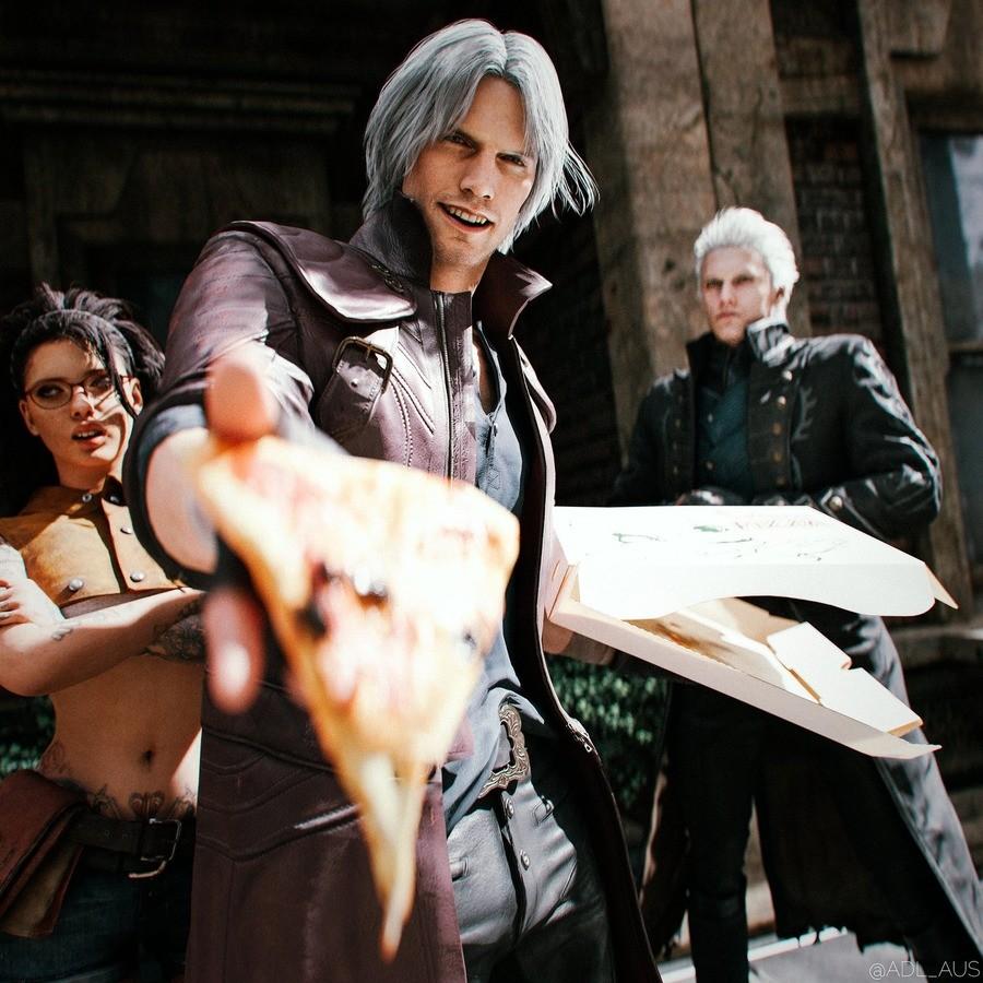 Here you go. .. Dante passes you The Slice™ Do you accept?