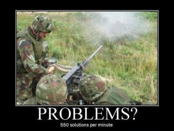 Here is your solution. Get the off my lawn.. 550 solutions per minute