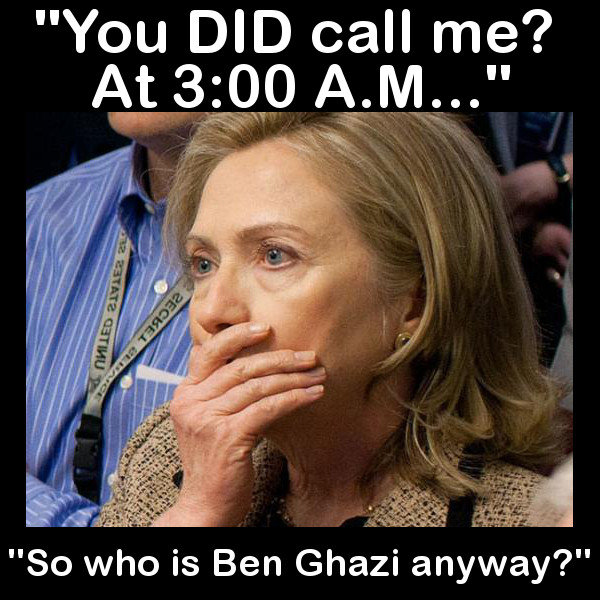 Hillary got a 3:00 a.m. phone call.... Do you remember Hillary Clinton's famous advertisement about that 3:00 a.m. phone call going to Barack Obama and him slee