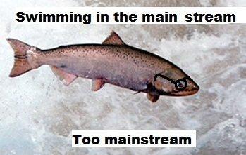 Hipster Fish. . Swimming in thug: main stream Taa mainstream t
