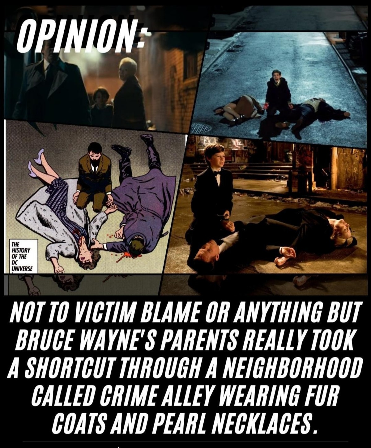 Hmm.. .. In case anyone isn't aware. It got nicknamed Crime-Alley AFTER the shooting.