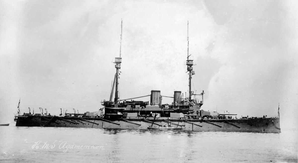 HMS Agamemnon. Pre-dreadnought battleship HMS Agamemnon, the last royal navy pre-dreadnought battleship, she entered service one year after HMS dreadnought, mak