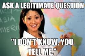 horrible teacher. . I 1 if