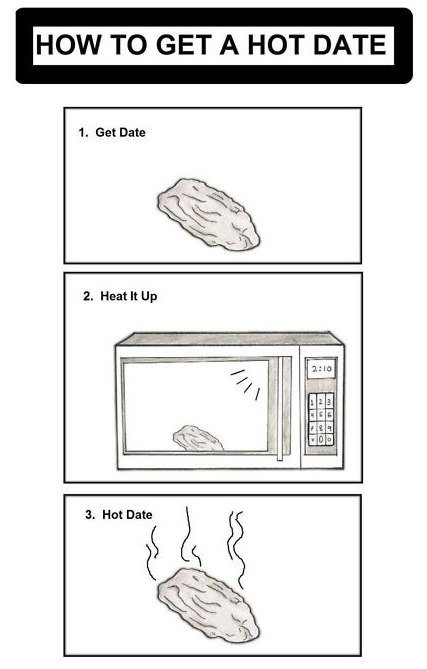 Hot. Source: dumpaday. HOW TO GET A HOT DATE. That's nuts.