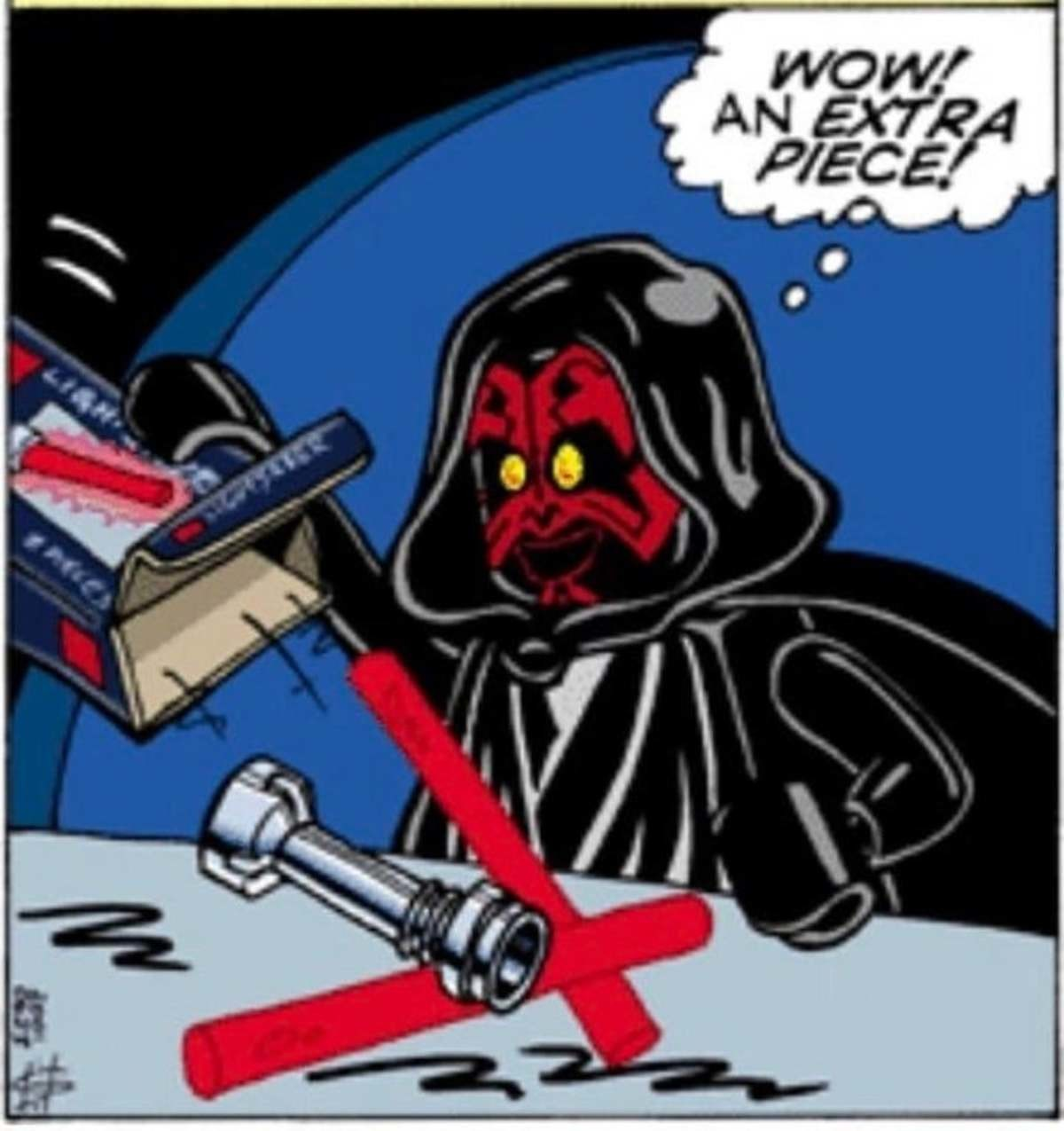 How Darth Maul got his lightsaber. .. He probably bought it at Ikea.