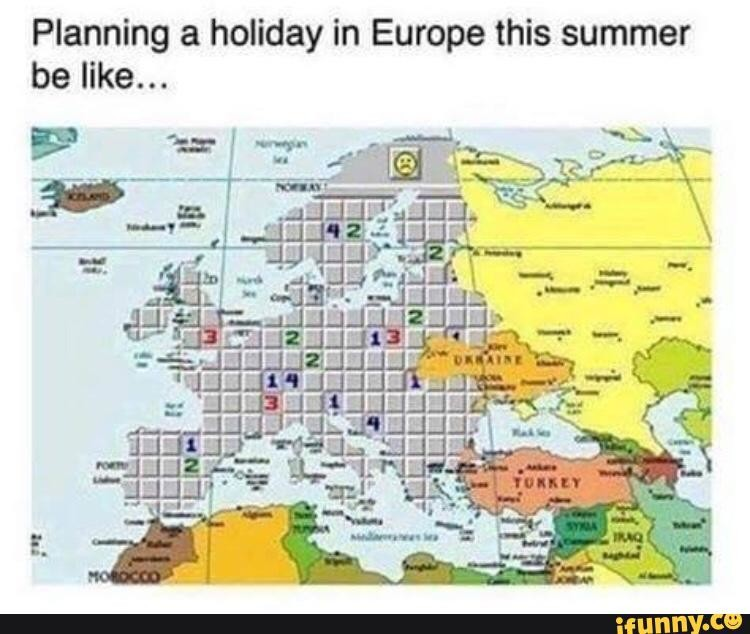 How it is These Days. I mean to be fair it is pretty accurate.... Planning a holiday in Europe this summer