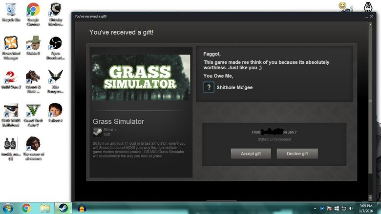 How my girlfriend broke up with me.... .. good thing the grass is always greener on...on the simulator.