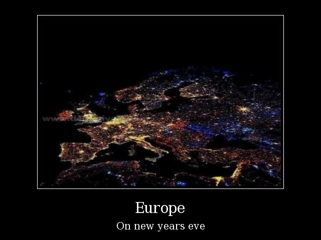 How was your ht?. Thanks for top 80 guys. Europe On new years EVE. africa, on new years eve
