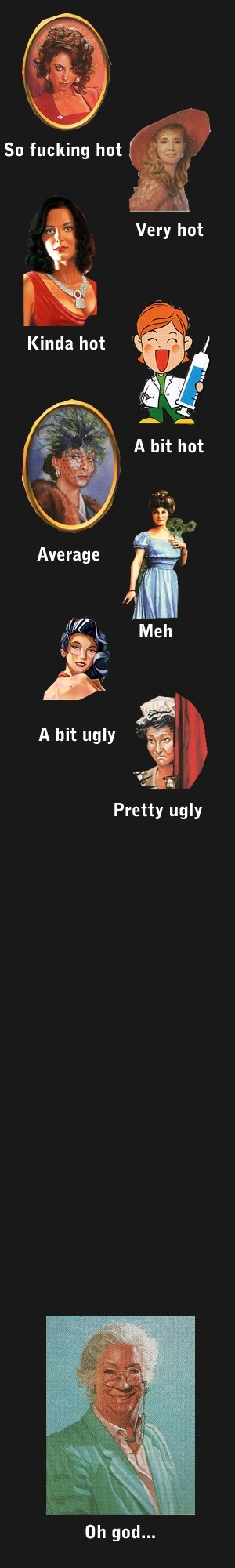 How hot are you. on a scale of scarlet to ?. Pretty ugly