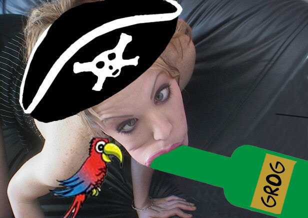 How to become a pirate.. Simple as pie... That PIRATE RUM was STREAMING into her mouth..