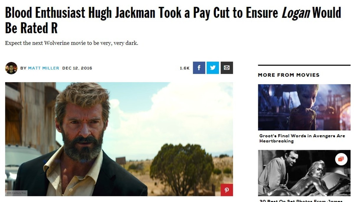 Hugh Jackman is the MVP. join list: MarvelStuff (205 subs)Mention History. Blood Enthusiast Hugh lawman Took a Pay Outta Ensure Inga Would Be Rated ll Expect th