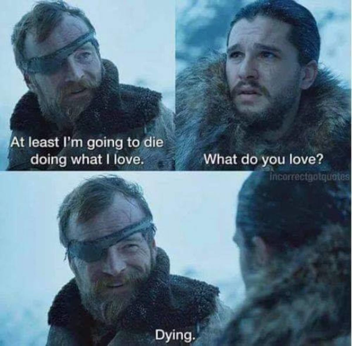 I don't even remember if/when he died tbh. .. he died after protecting Arya in Winterfell battle