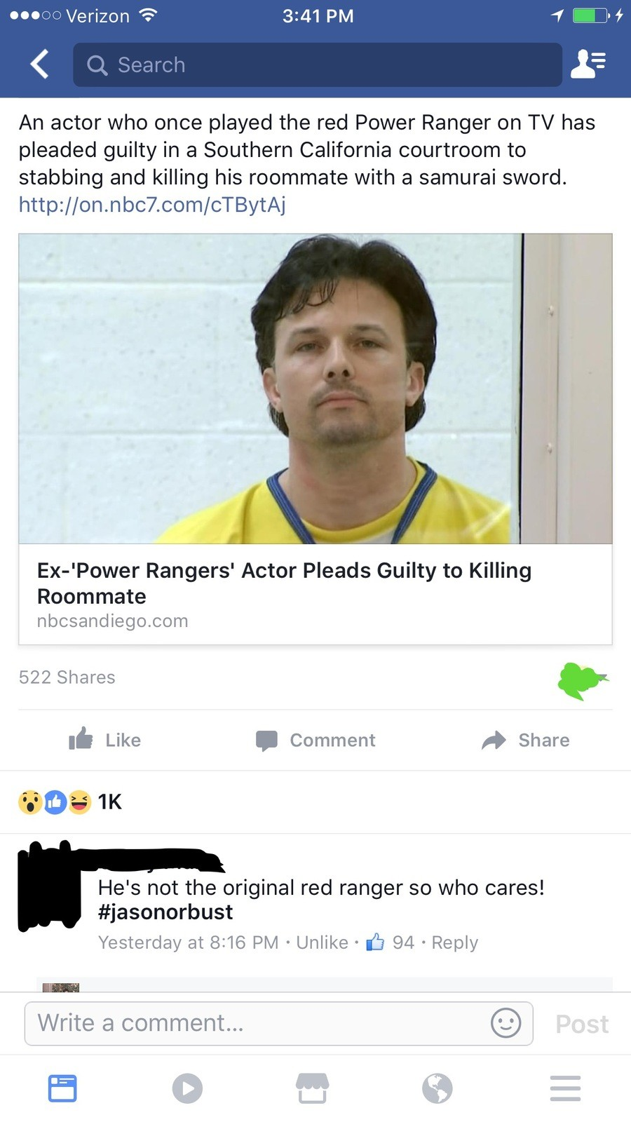 I mean, he was trained for it. . An actor who once played the red Power Ranger on TV has pleaded guilty in a Southern California courtroom to stabbing and killi