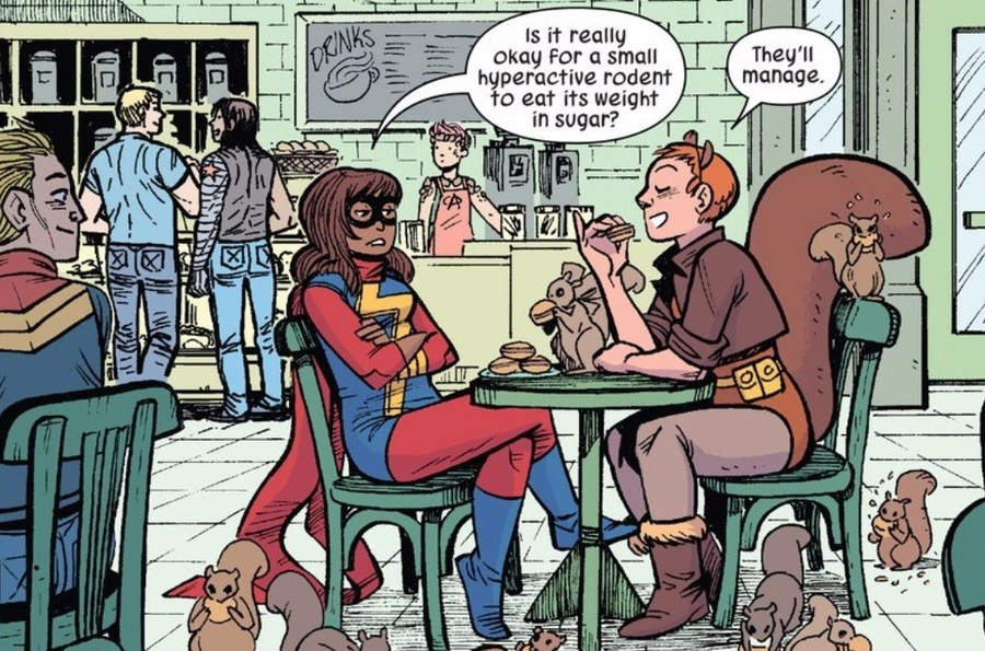 I ship it. no, not the girls All New, All Different Avengers Anual #1: The Fan Fiction World of Ms Marvel. allianz For Ci] small hyperactive rodent iii: in an?