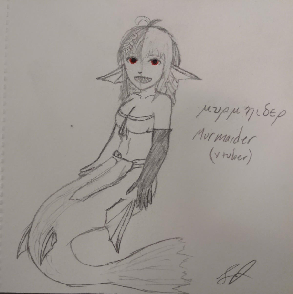 I tried to draw vtuber Murmaider. join list: magikarpsplash (139 subs)Mention History.. Imagine watching a V-Tuber of a female when there are cool animal ones.