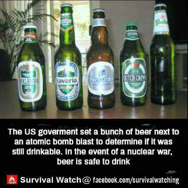 """i'll take your word for it. how close was """"next to"""". The Us sat a bunch of new new to an atomic bomb blast to if it was still drinkable. In the event"""