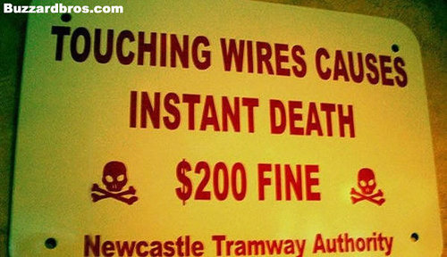 Im Up For that :). .. well they cant pay it if there died they should put a protective coat over the wires so if something like that happens they can pay the fine without dieing