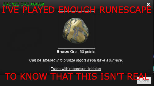 IMPOSSIBRUNESCAPE. How could this happen?. Brenna the - 50 points Can be smelted into bronze ingots If you have a furnace. Trade With regardsuncledolan