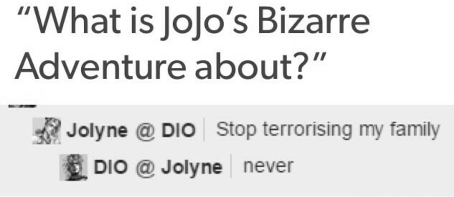 In a nutshell. join list: JojoGeneral (625 subs)Mention History join list: