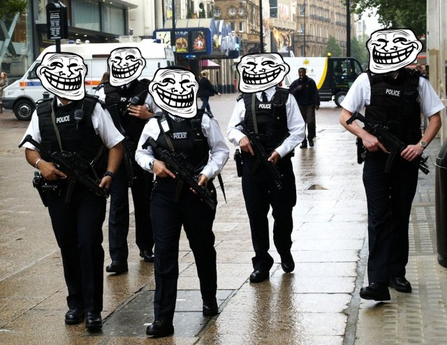 In GB. Police you.. lulwut?