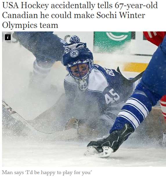 inb4 freedom. Sauce . USA Hockey accidentally tells Canadian he could make Seem Winter Olympics team Man Says. Tel be happy tn play for you'